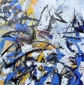 "Bild ""Eisschmelze"", Leinwand, Maler, Bildhauer, Cornelius Richter, 2012, Acryl, Gouache, Spachteltechnik, Leinwand"