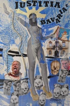 Justitia Bavaria und das Haupt des Holofernes von Cornelius Richter, 2013