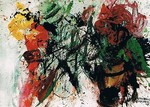 Bild, Stillleben, Maler, Bildhauer, Cornelius Richter, Gouache, Acryl, Leinwand, Bütten