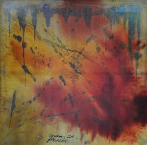 """Synästhesie Bild """"EnergEthik des Lebens"""" von Cornelius Richter auf Leinwand, 2012"""