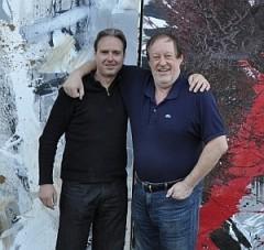 Christoph Klein und der Maler und Bildhauer Cornelius Richter (rechts) im Jahre 2012