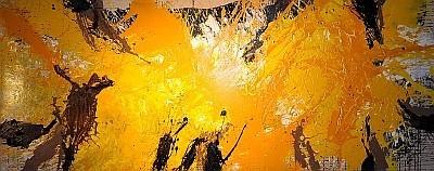 Sonnenstele Nr. 1 von Cornelius Richter, 2012, Acryl Gouache und Schütttechnik