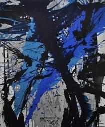 Wasserstele, Schütttechnik mit Acryl, Gouache, Cornelius Richter, 2011