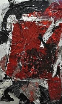 """Collage """"Dirty Ocean"""" von Cornelius Richter, 2012, Acryl und Leim Collage auf Leinwand"""