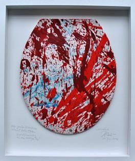 Die große Diarrhoe, Justiz-Lokus, Maler, Bildhauer, Künstler, Cornelius Richter, 2014