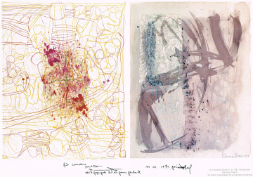 Hermann Nitsch, Zeichnung, Geschenk, Cornelius Richter, Synästhesie, Bild, Geschenk