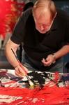 Live-Painting von Cornelius Richter im Hauptbahnhof Frankfurt vom 15.11. - 16.11.2012, Ausstellung, Ein Herz für Kinder