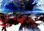 Bild, Maler, Bildhauer, Cornelius Richter, Lanzarote, Kanaren, Acryl, Oel, Leinwand, Rupfen, Bütten